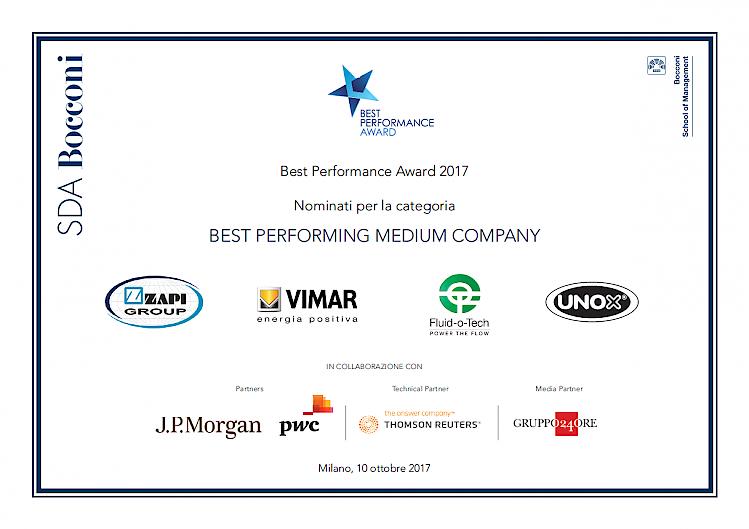 入围2017年度最佳表现奖