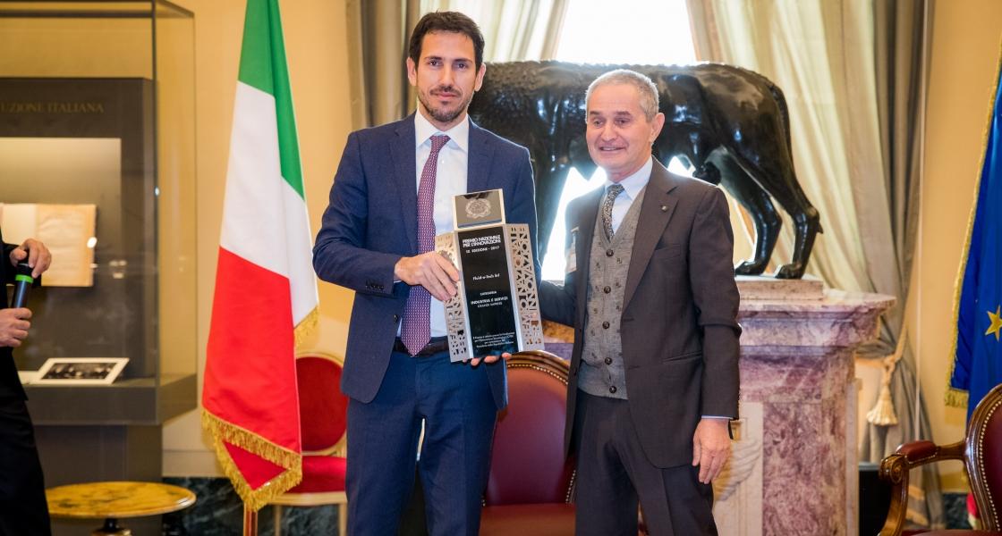 福力德泰克赢得了2017年工业联盟企业创新奖,并被授予IL PREMIO DEI PREMI奖